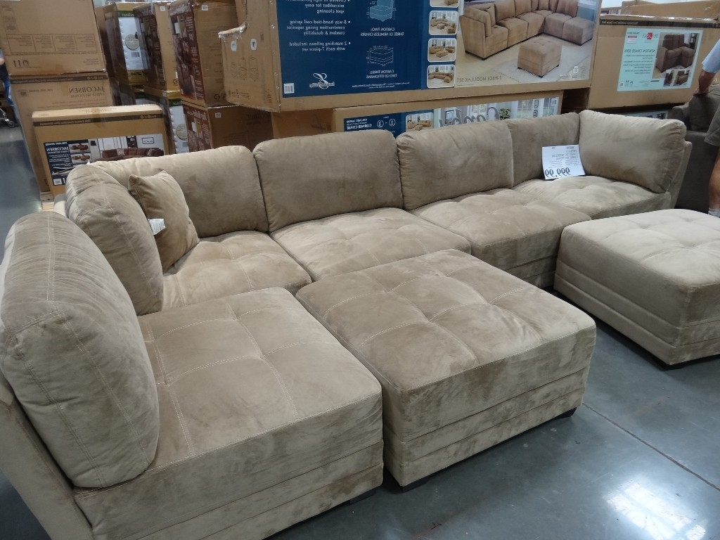 Famous 6 Piece Leather Sectional Sofas Intended For Sectionals Sofas Costco (View 13 of 20)