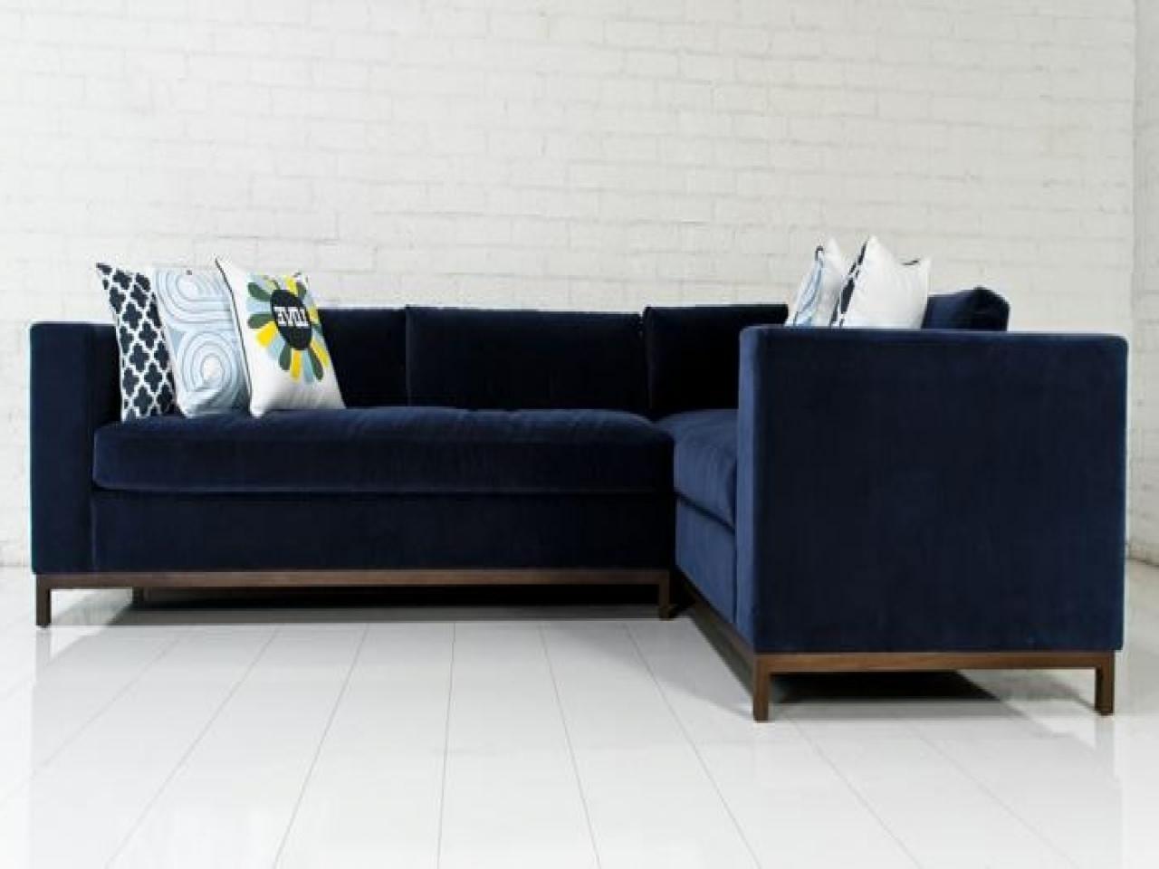 Famous Best Of Blue Velvet Sectional Sofa Interior Intended For Design 12 For Houzz Sectional Sofas (View 9 of 20)