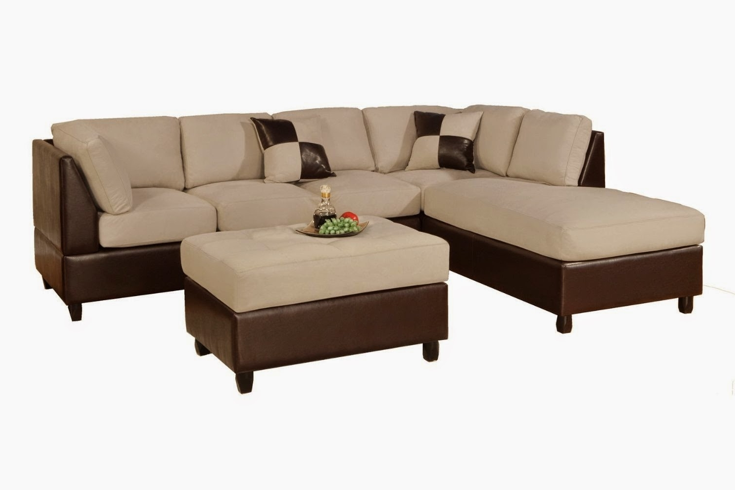 Famous Brown Faux Leather L Shaped Sectional Couch With Left Chaise Pertaining To Leather L Shaped Sectional Sofas (View 5 of 20)