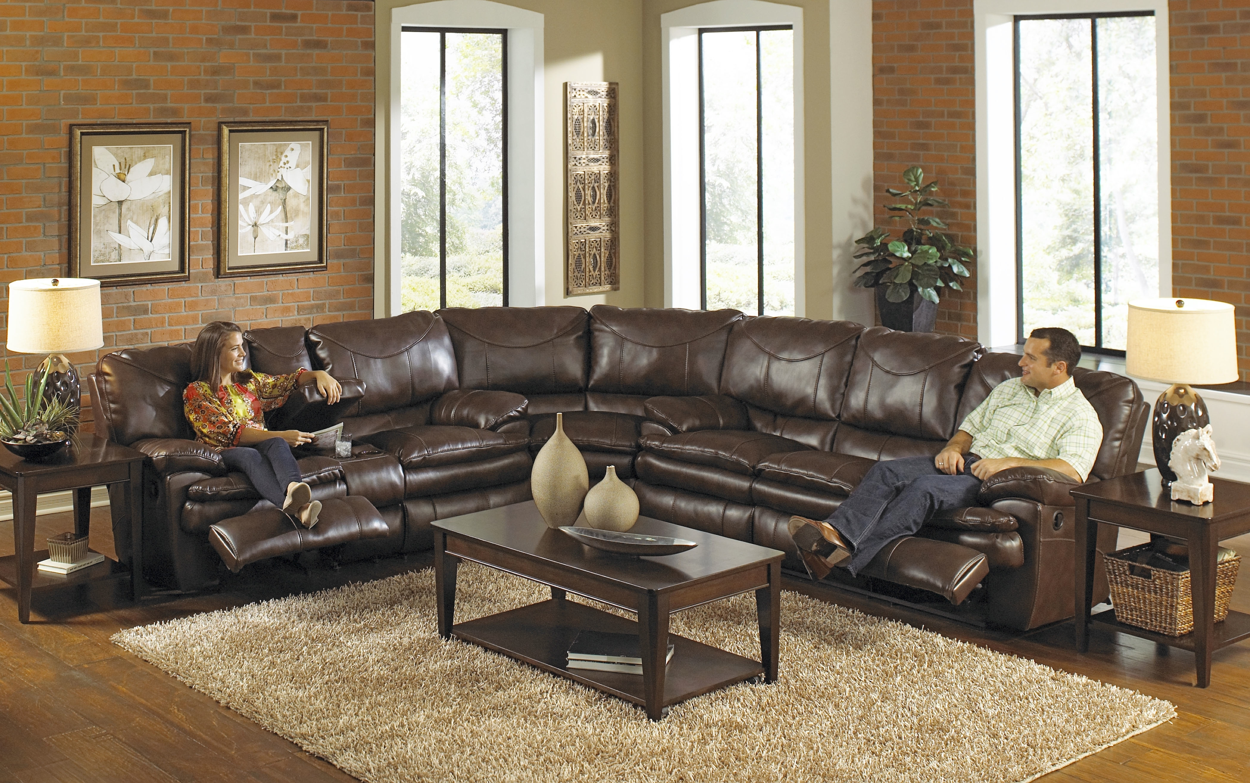 Famous Buy Large Sectional Sofas Perfect For Your Large Living Room Within Leather Recliner Sectional Sofas (View 3 of 20)