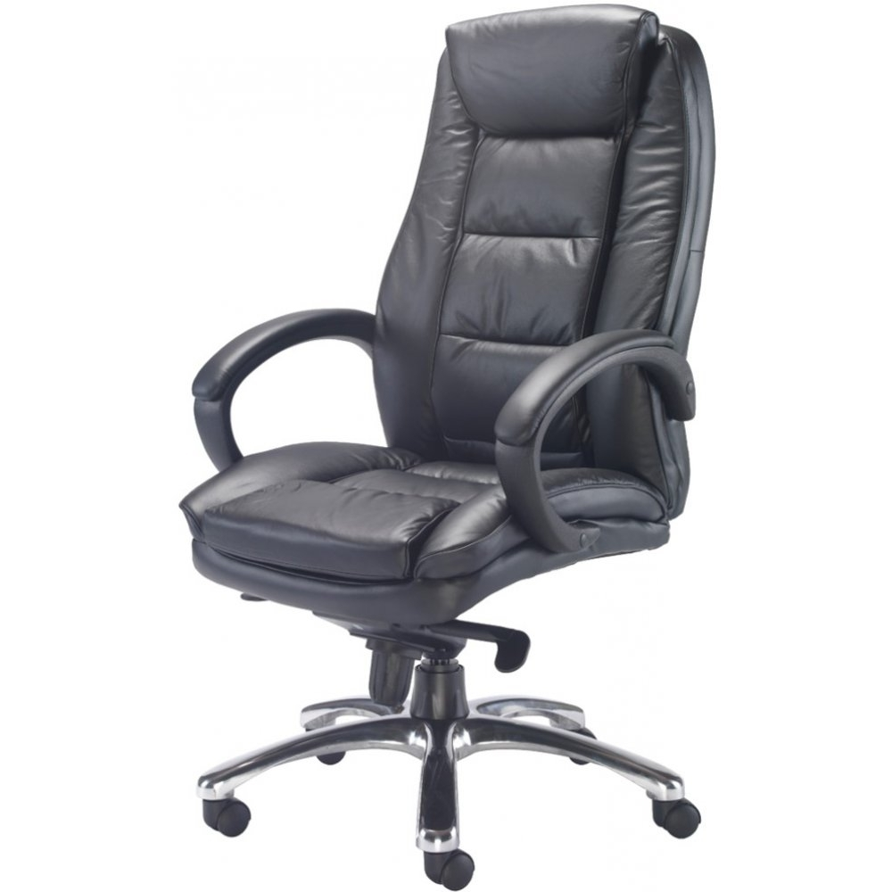 Famous Chair : Transitional Leather Executive Office Chair Leather Intended For Executive Office Chairs With Back Support (View 14 of 20)