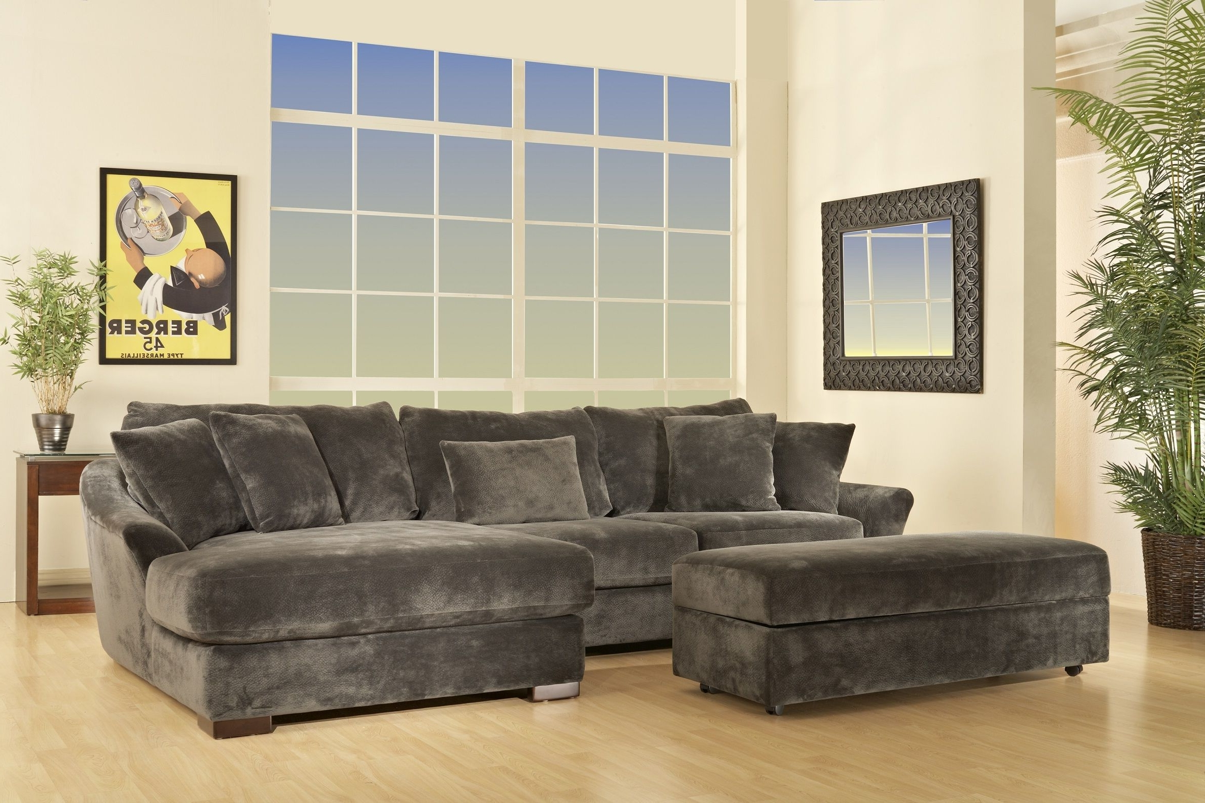 Famous Champion Brown Fabric 4 Peice Oversized Chaise Sectional Set For El Paso Sectional Sofas (View 7 of 20)