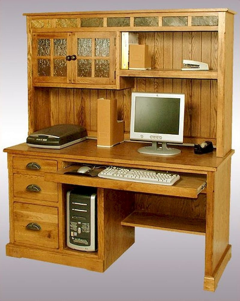 Famous Computer Desks With Hutch Inside Sunny Designs Computer Desk/hutch Sedona Su 2863Ro H D (View 9 of 20)