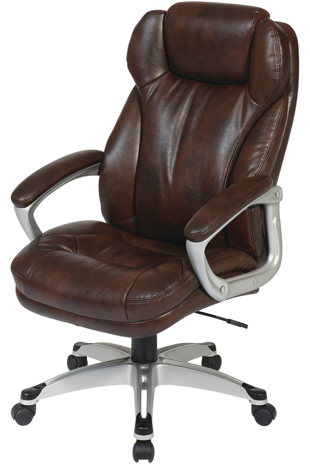 Famous Executive Office Chairs With Headrest With Ech85801 Ec1 Office Star – Executive Cocoa Eco Leather Chair With (View 7 of 20)