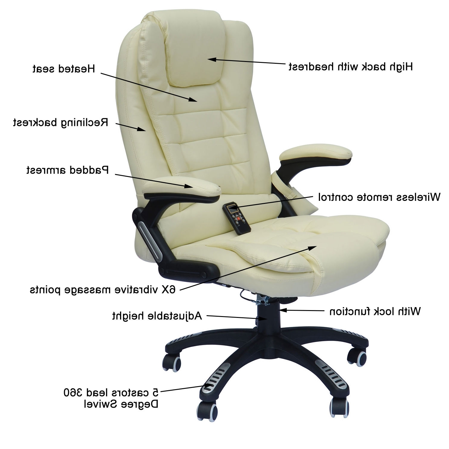 Famous Executive Office Chairs With Massage/heat For Home Office Computer Desk Massage Chair Executive Ergonomic Heated (View 11 of 20)