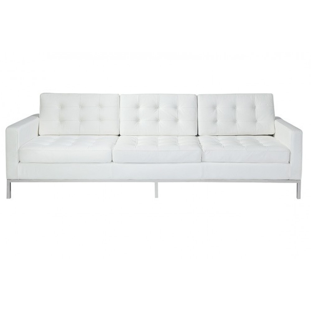Famous Florence Style Sofa In Black, White And White Leather – Home And Pertaining To Florence Knoll Style Sofas (View 20 of 20)