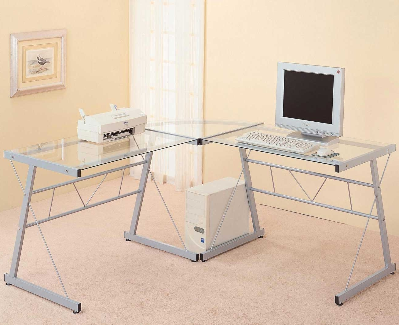Famous Glass L Shaped Desk Ikea All About House Design : Elegant Glass L Inside Ikea Glass Computer Desks (View 8 of 20)