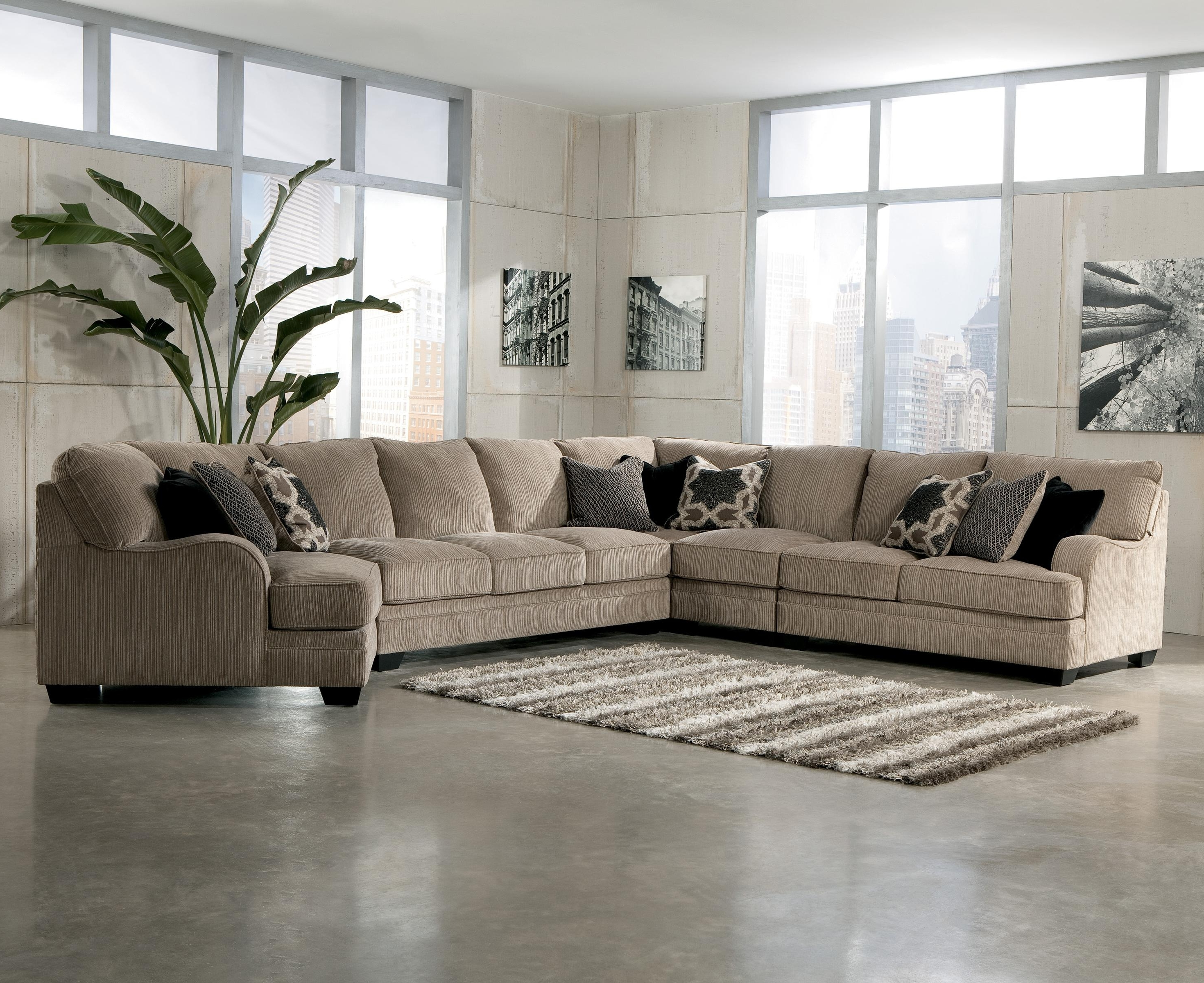Famous Home Furniture Sectional Sofas Inside Signature Designashley Katisha – Platinum 5 Piece Sectional (View 6 of 20)
