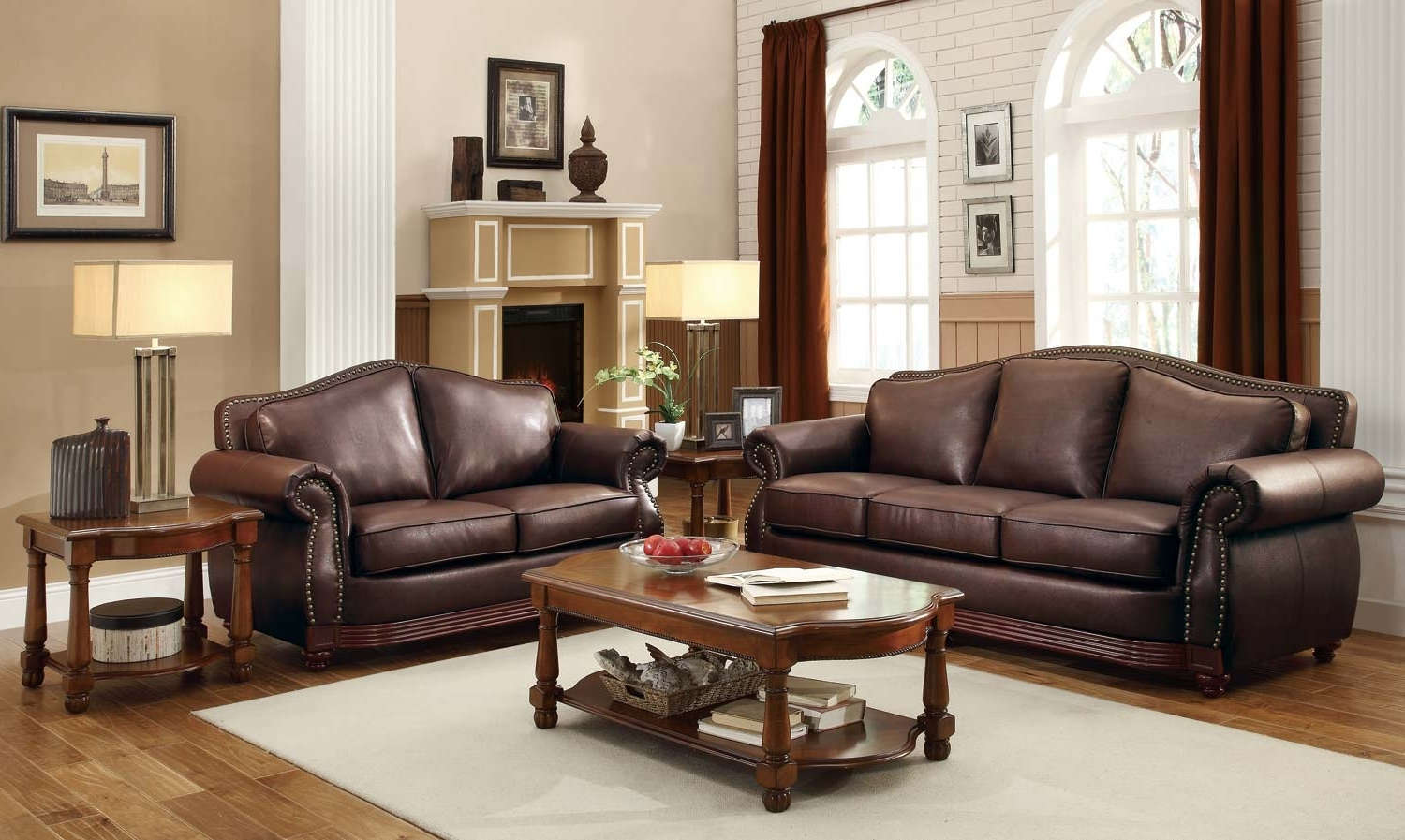 Famous Homelegance Midwood Bonded Leather Sofa Collection – Dark Brown Pertaining To Brown Sofa Chairs (View 13 of 20)