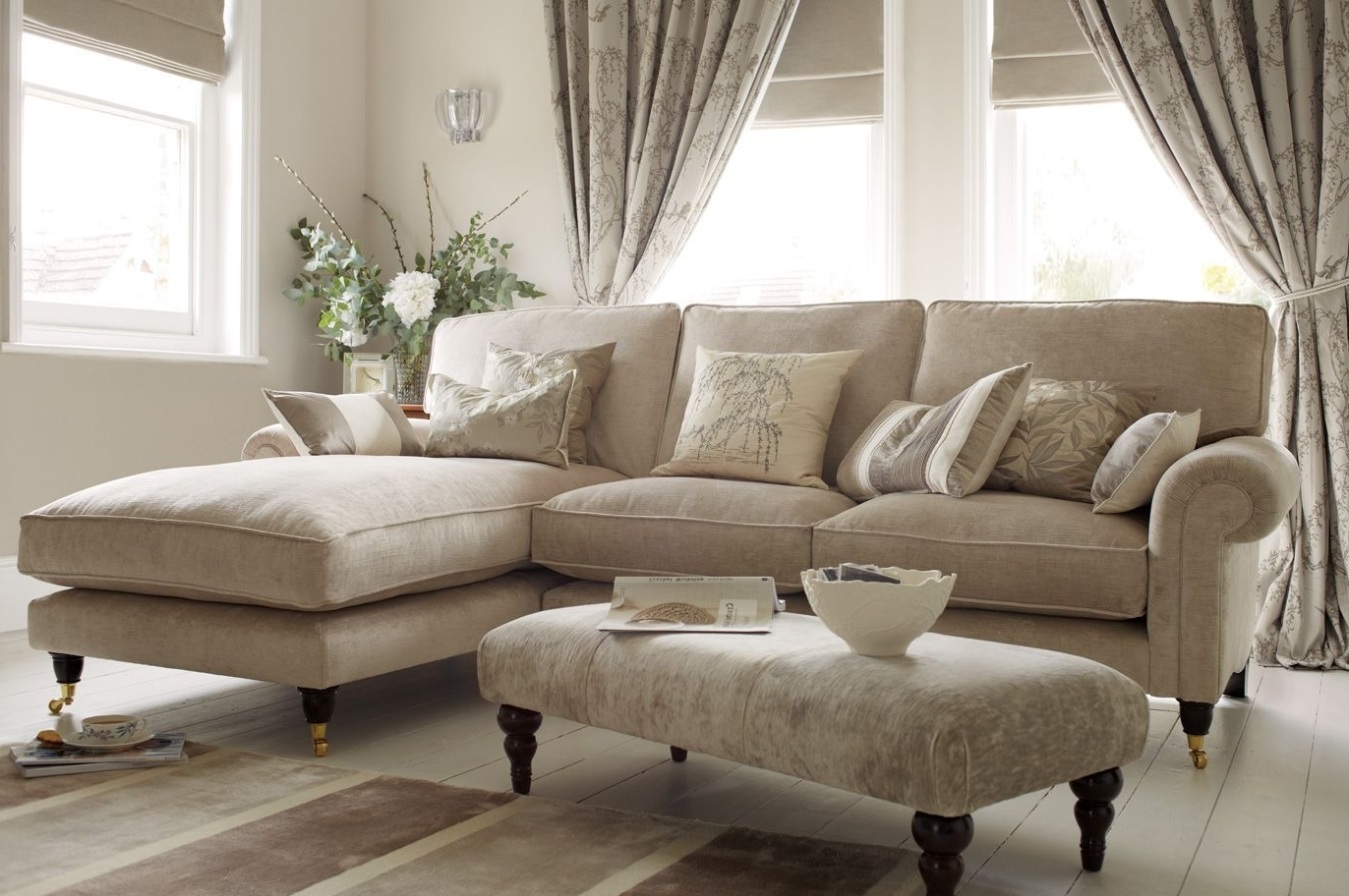 "Famous Kingston Sectional Sofas Pertaining To Kingston"" Sectional Sofa With Chaise In Sable Beige From Laura (View 2 of 20)"