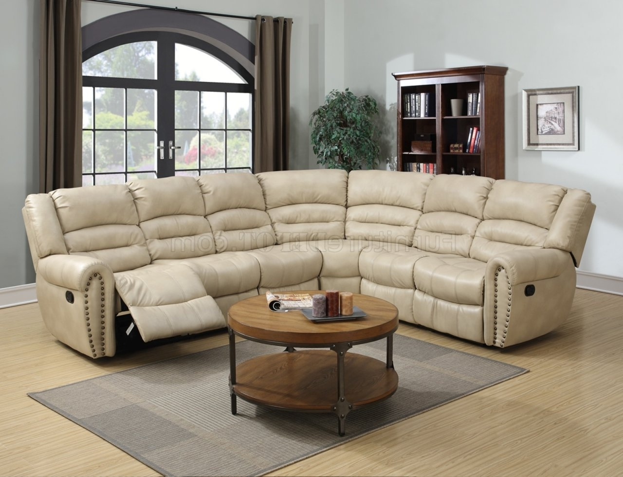 Famous Leather Motion Sectional Sofas In G687 Motion Sectional Sofa In Beige Bonded Leatherglory (View 4 of 20)
