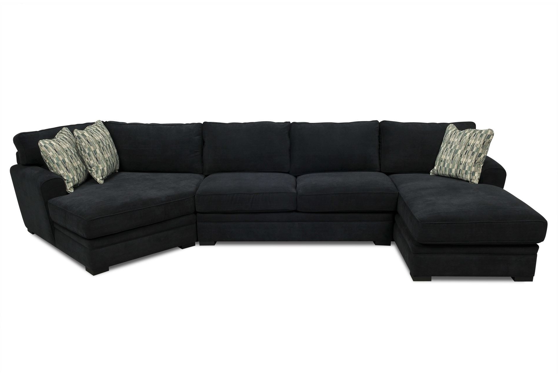 """Famous Living Spaces Sectional Sofas Pertaining To Aaron 3 Piece Sectional  Large View 121 Dimensions: 166""""w X 67""""d X (View 3 of 20)"""