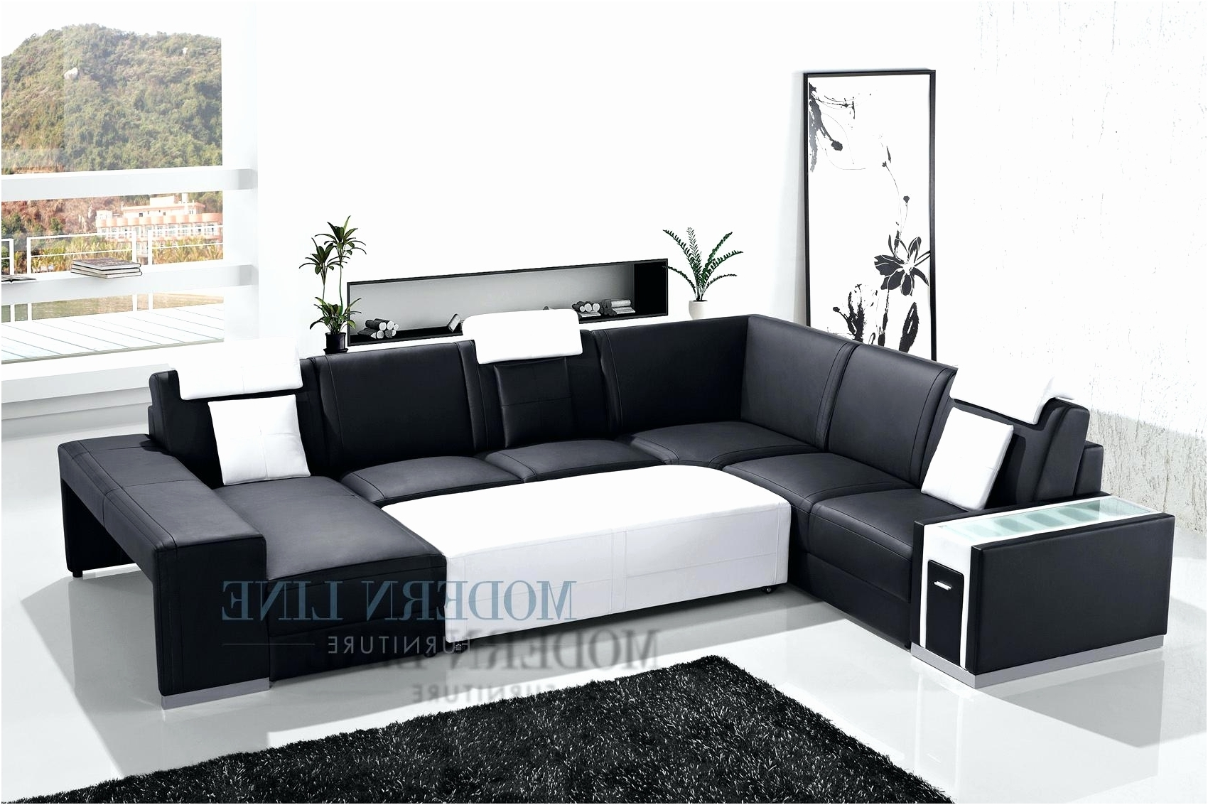 Famous Lovely Custom Sectional Sofas Elegant – Intuisiblog For Couches With Large Ottoman (View 17 of 20)