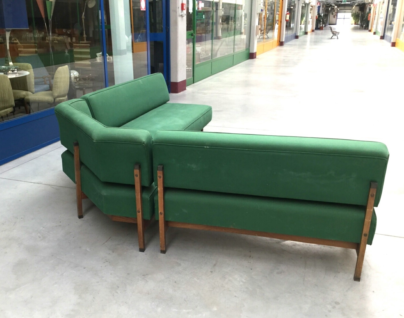 Famous Modular Corner Sofas Regarding Mid Century Italian Green Modular Corner Sofa, 1960S For Sale At (View 7 of 20)