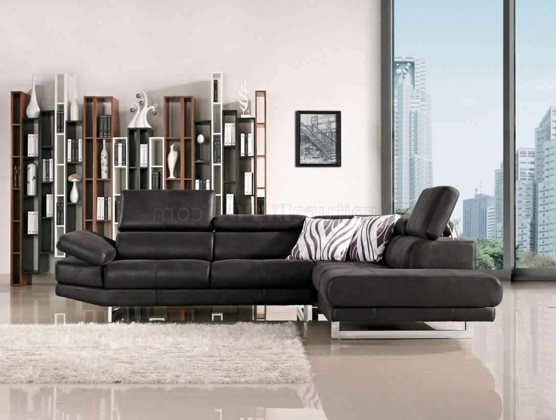 Famous Nyc Sectional Sofas Regarding Fabric Modern Sectional Sofa W/adjustable Headrest Throughout (View 3 of 20)