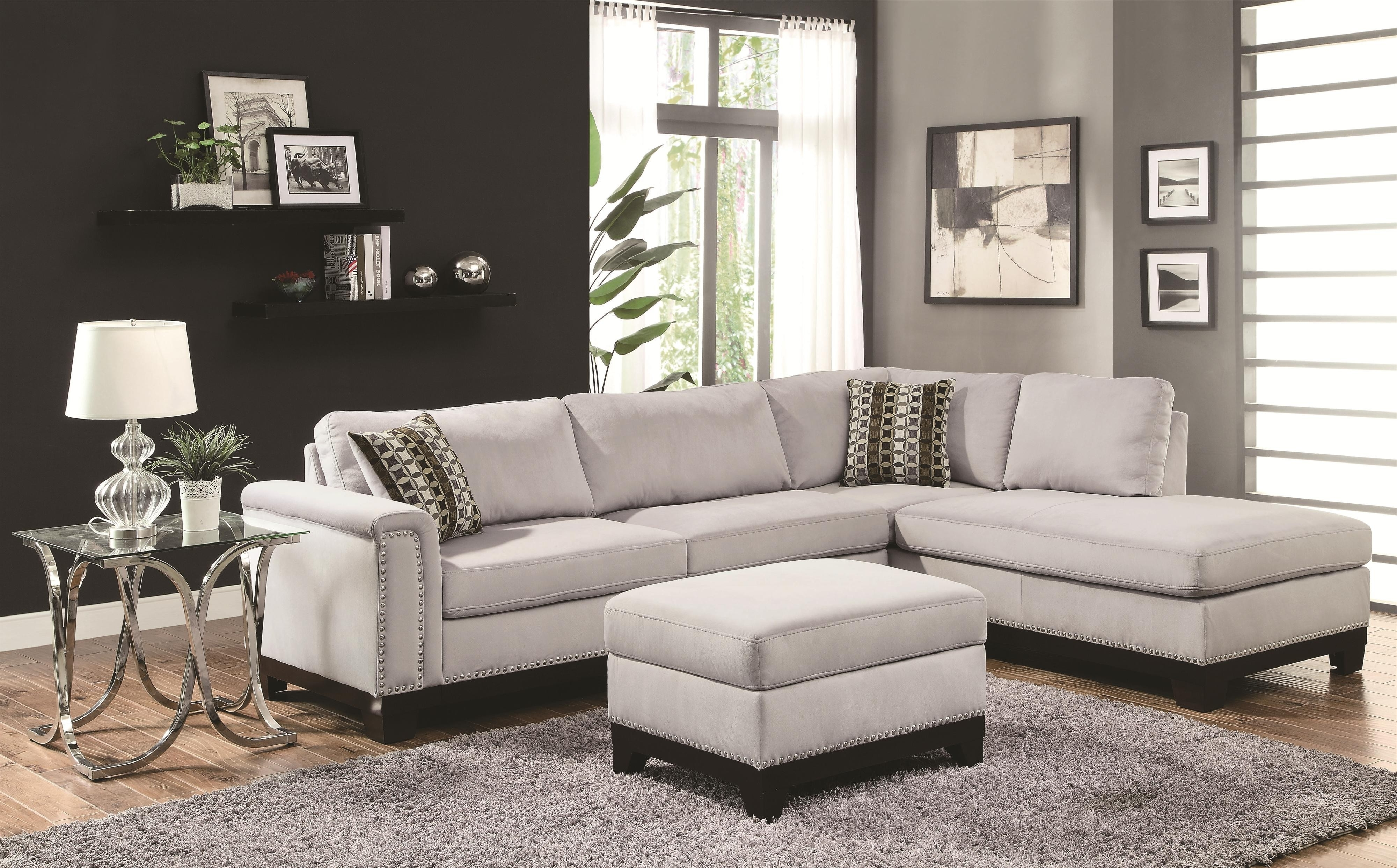 Famous Off Agata Light Grey Sectional Sofas Gray Sofa Modern Fabric Throughout Quebec Sectional Sofas (View 3 of 20)