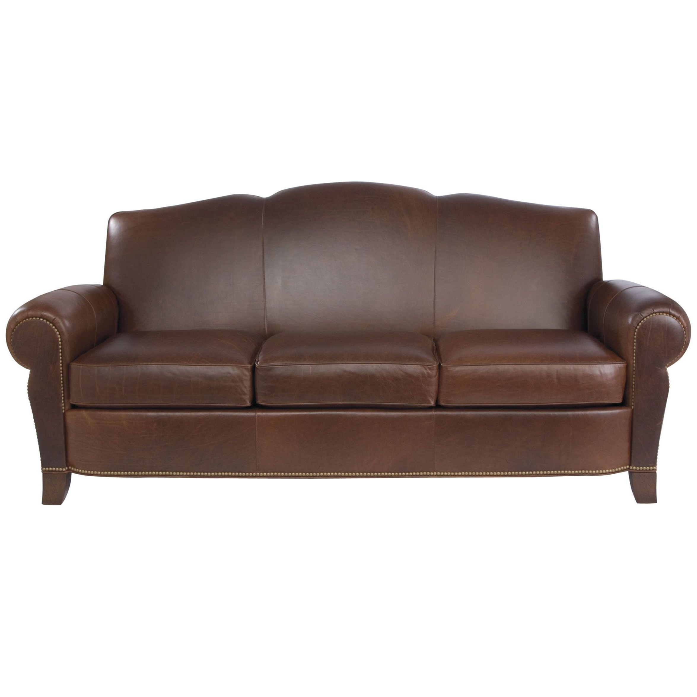 Famous Paloma Three Cushion Leather Sofa – Ethan Allen Us Can Be Pertaining To Customized Sofas (View 7 of 20)