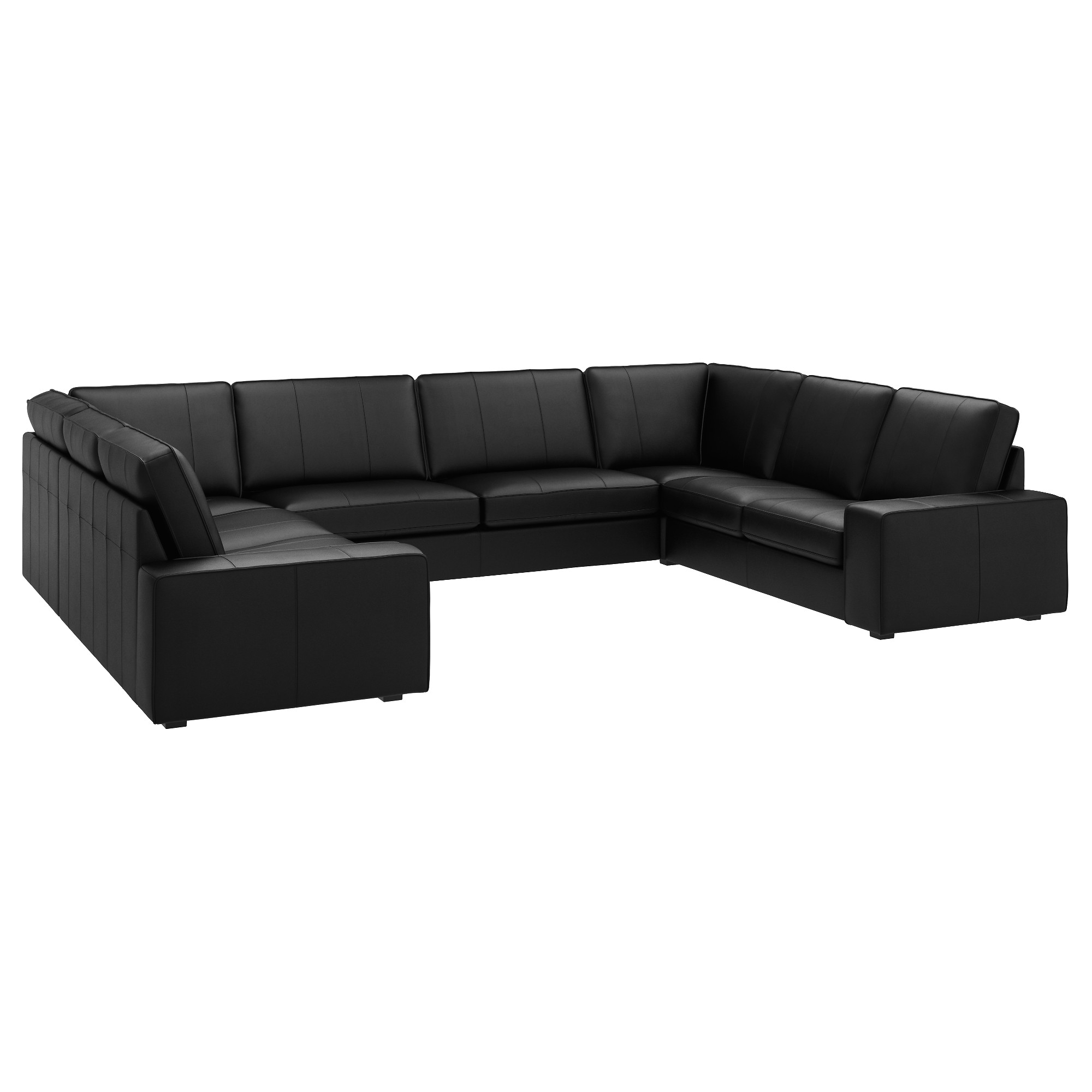 Famous Quatrine Sectional Sofas With Regard To 63 Most Endearing Kivik U Shaped Sofa Seat Grann Bomstad Black S (View 15 of 20)