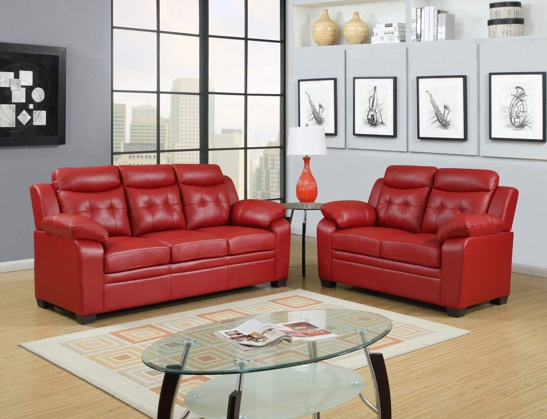 Famous Red Leather Couches And Loveseats For Epic Red Leather Sofa Couch 34 On Modern Sofa Ideas With Red (View 5 of 20)