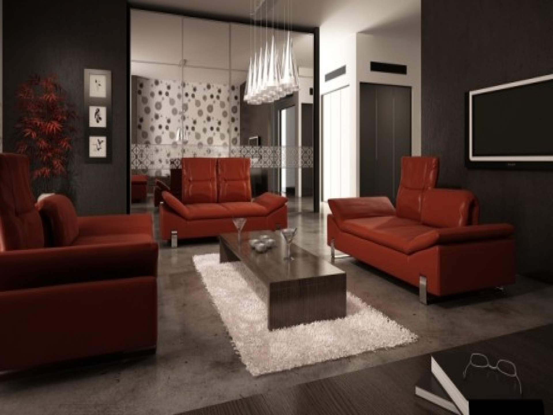 Famous Red Leather Couches For Living Room Inside Red Leather Sofa Living Room Ideas – Google Search (View 6 of 20)