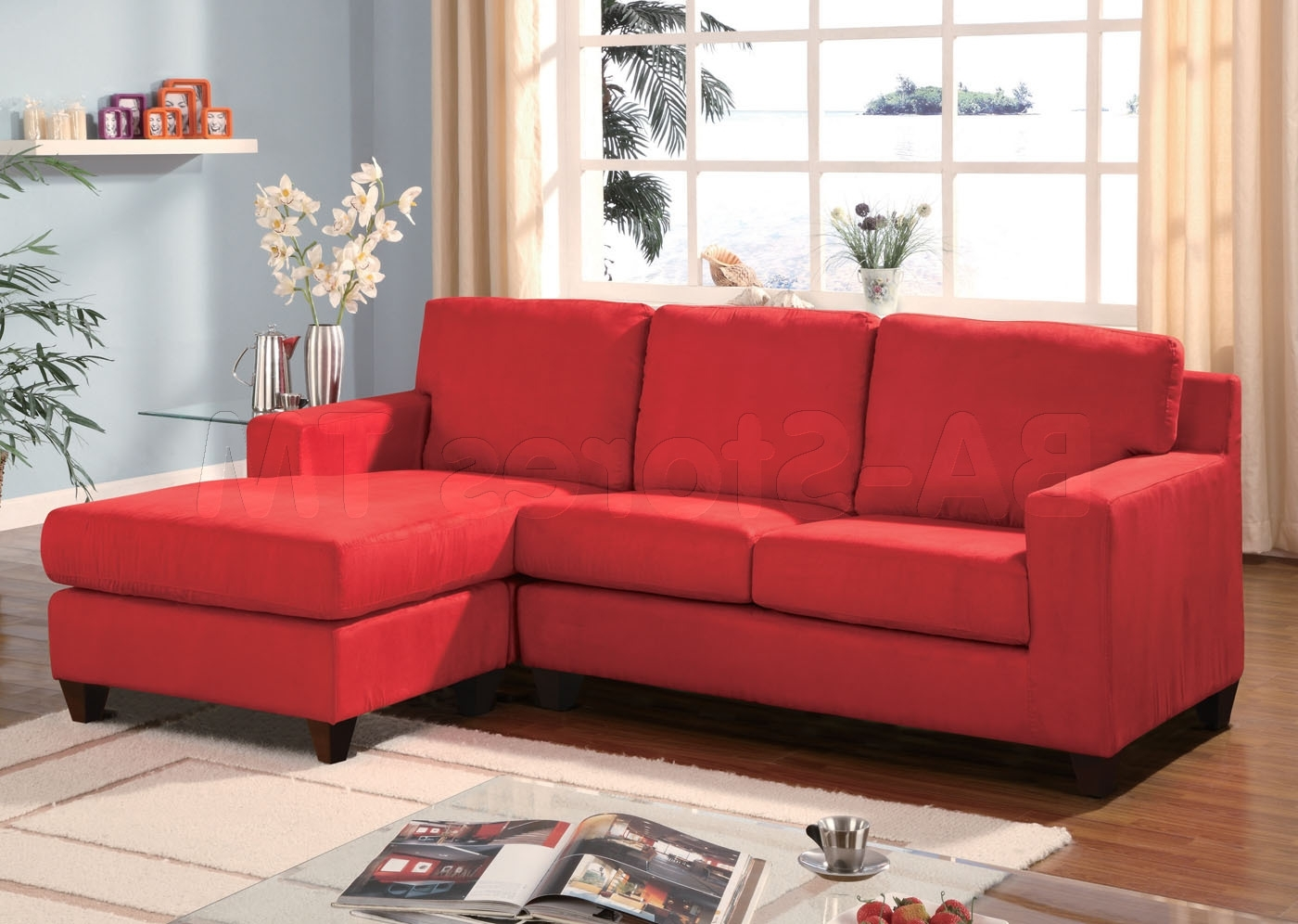 Famous Red Sectional Sofa For Newly Wed Couples Home – Furnitureanddecors In Red Sectional Sofas (View 5 of 20)