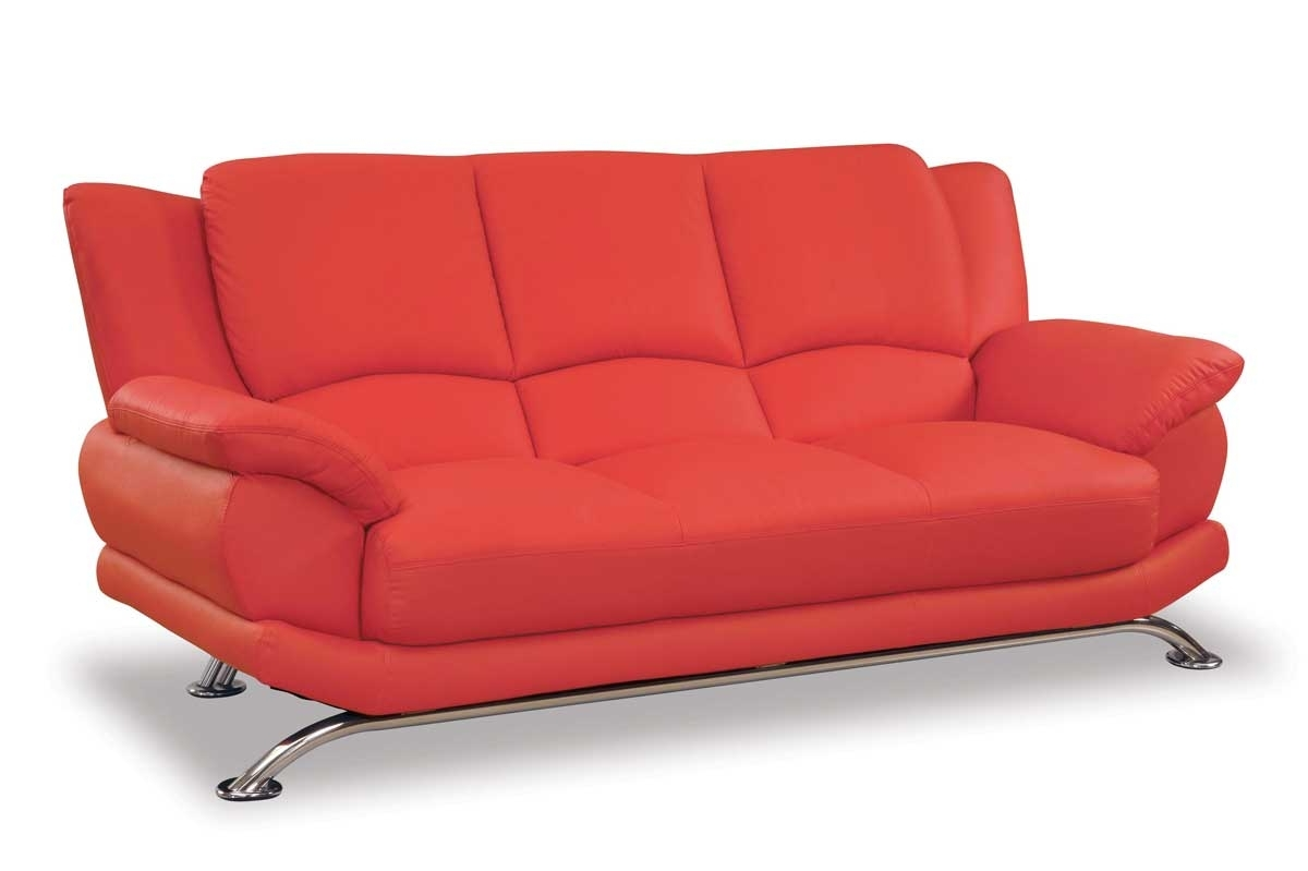Famous Red Sofa Chairs Within Glamorous Genuine Leather Chesterfield Sofa As Well As Modern (View 8 of 20)