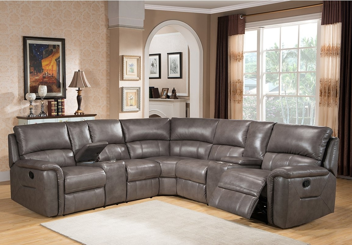 Famous Sacramento Sectional Sofas With Amax Sacramento Leather Reclining Sectional & Reviews (View 5 of 20)
