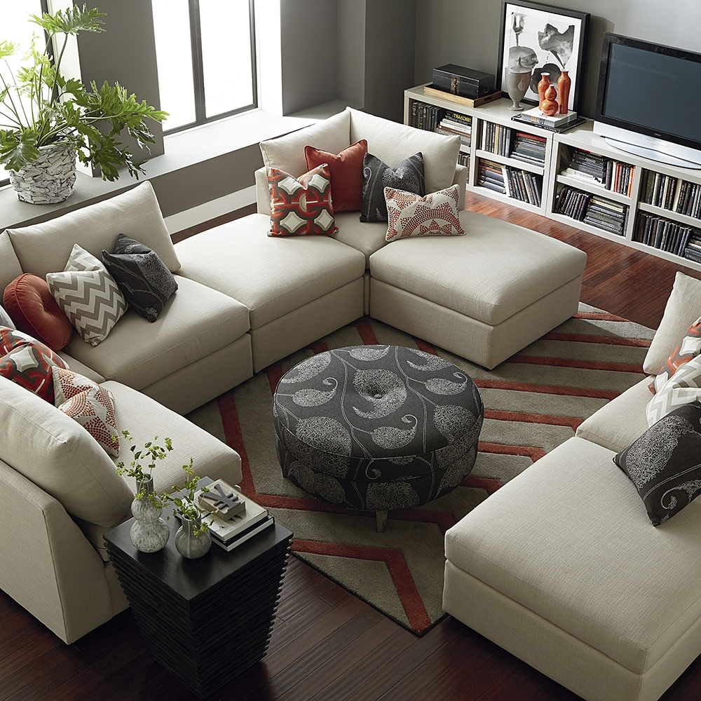 Famous Sectional Sofas At Bassett Pertaining To Contemporary U Shaped Sectional (View 9 of 20)