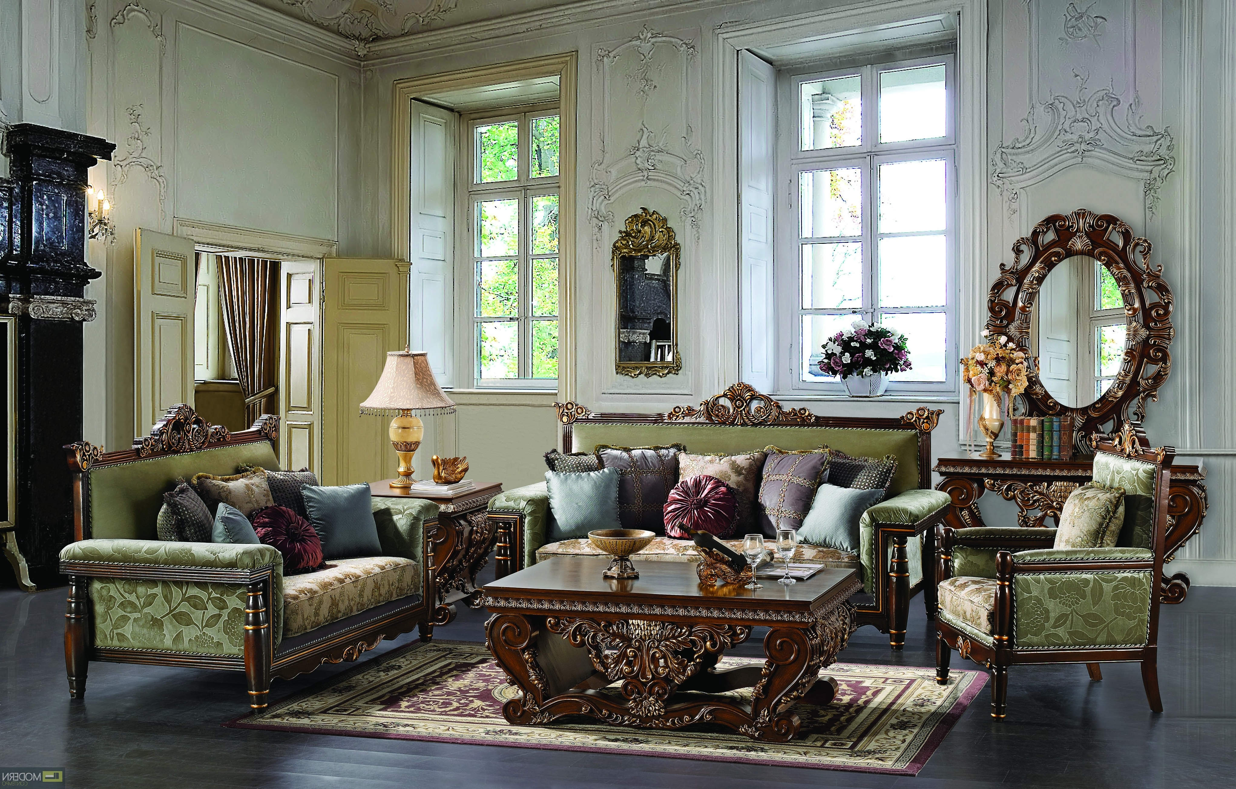 Famous Traditional Sofas And Chairs Inside Living Room Furniture Traditional Style Interior Design Sofa (View 15 of 20)