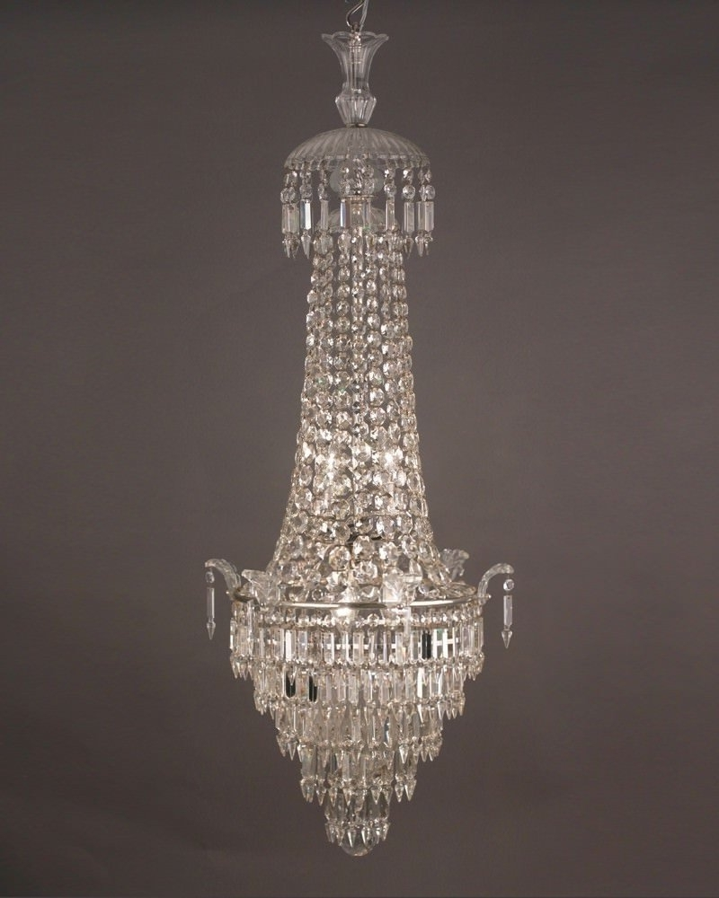 Famous Waterfall Crystal Chandelier With Regard To Waterfall And Bag Bohemian Crystal Chandelier, Antique Lighting (View 6 of 20)