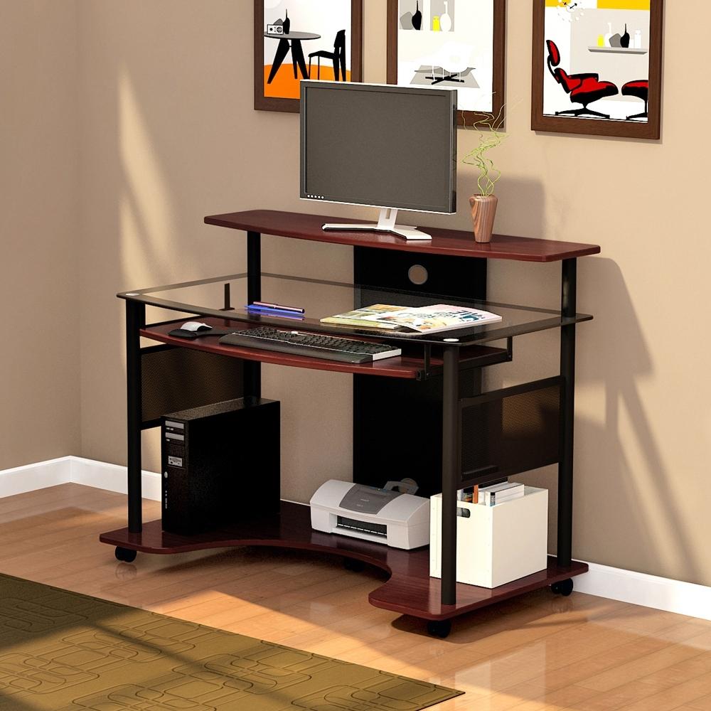 Famous Z Line Computer Desks In Z Line Cyrus Computer Cart Zl2200 01Wsu (View 1 of 20)