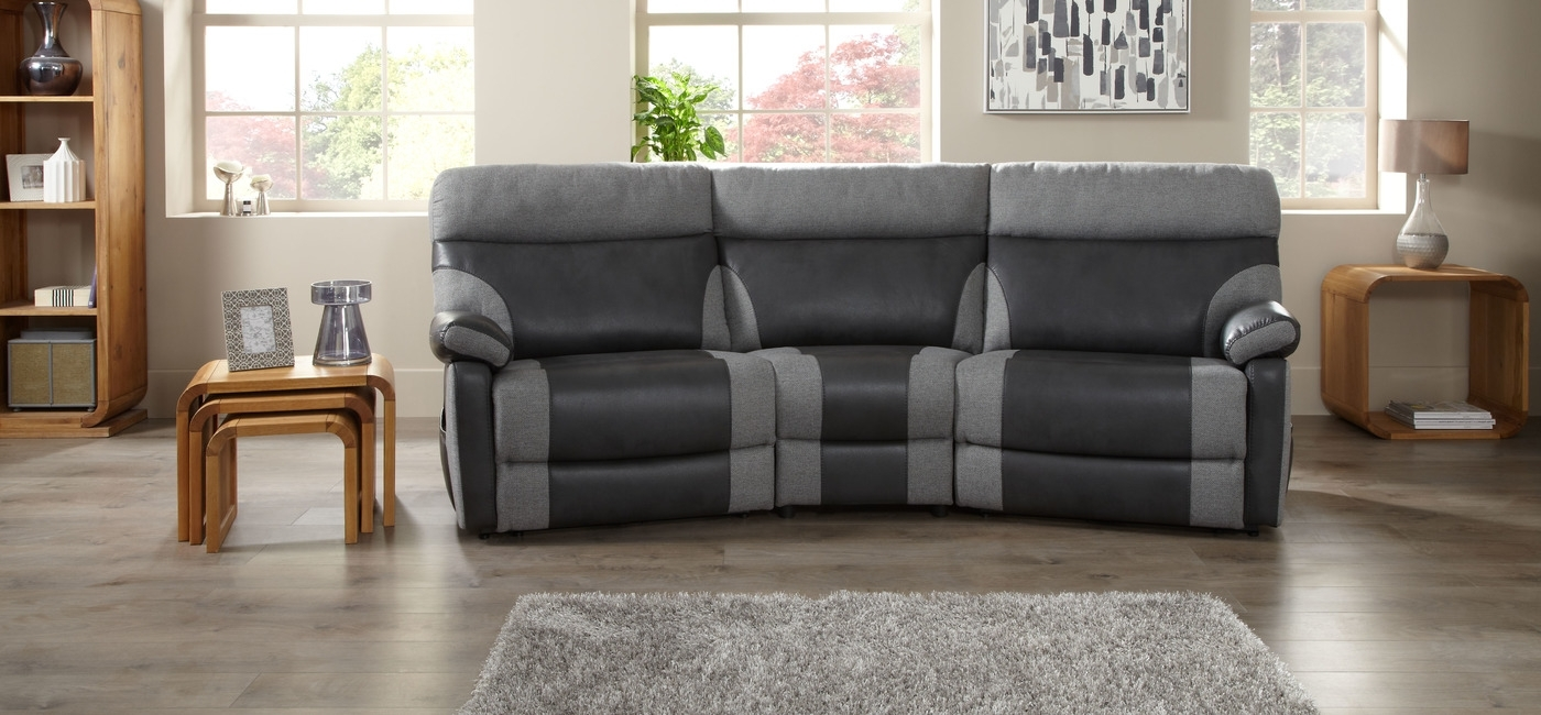 Fancy Curved Reclining Sofa 83 In Sofa Table Ideas With Curved Within Most Popular Curved Recliner Sofas (View 10 of 20)