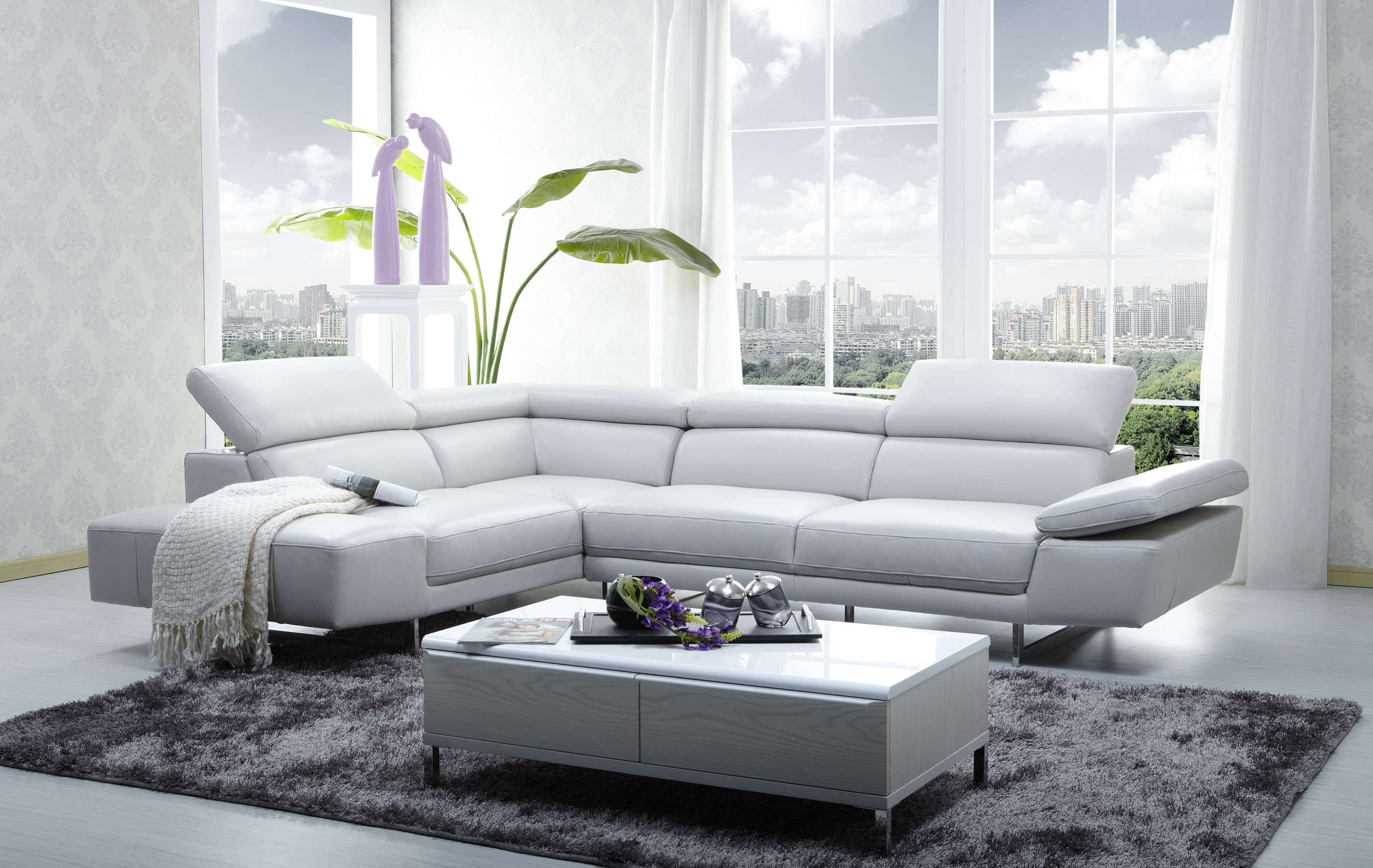 Fashionable 1717 Italian Leather Modern Sectional Sofa With Regard To Modern Sectional Sofas (View 7 of 20)