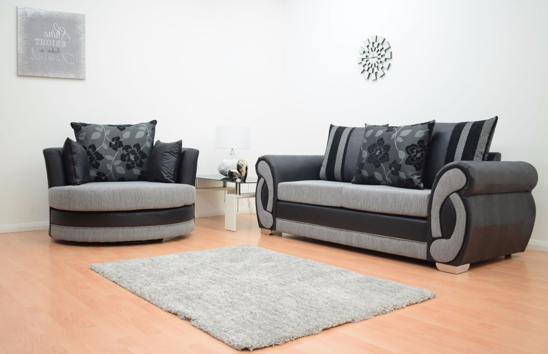 Fashionable 3 Seater Sofas And Cuddle Chairs Regarding Furnish (View 8 of 20)