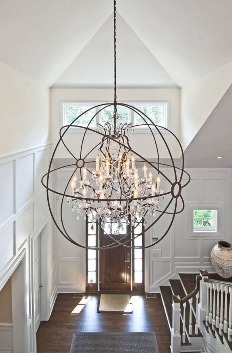 Fashionable Alluring Bronze Orb Chandelier Best 25 Foyer Chandelier Ideas On For Stairway Chandelier (View 3 of 20)