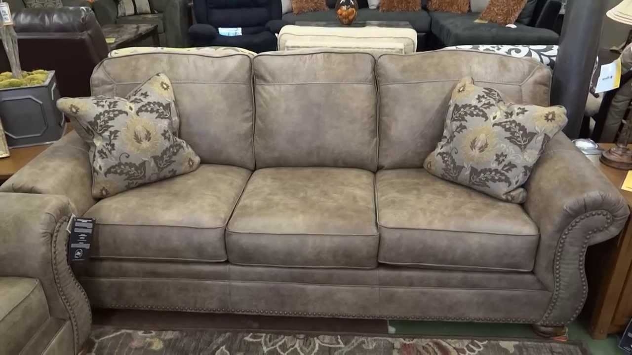 Fashionable Ashley Tufted Sofas Within Ashley Furniture Larkinhurst Earth Couch & Loveseat Review – Youtube (View 12 of 20)