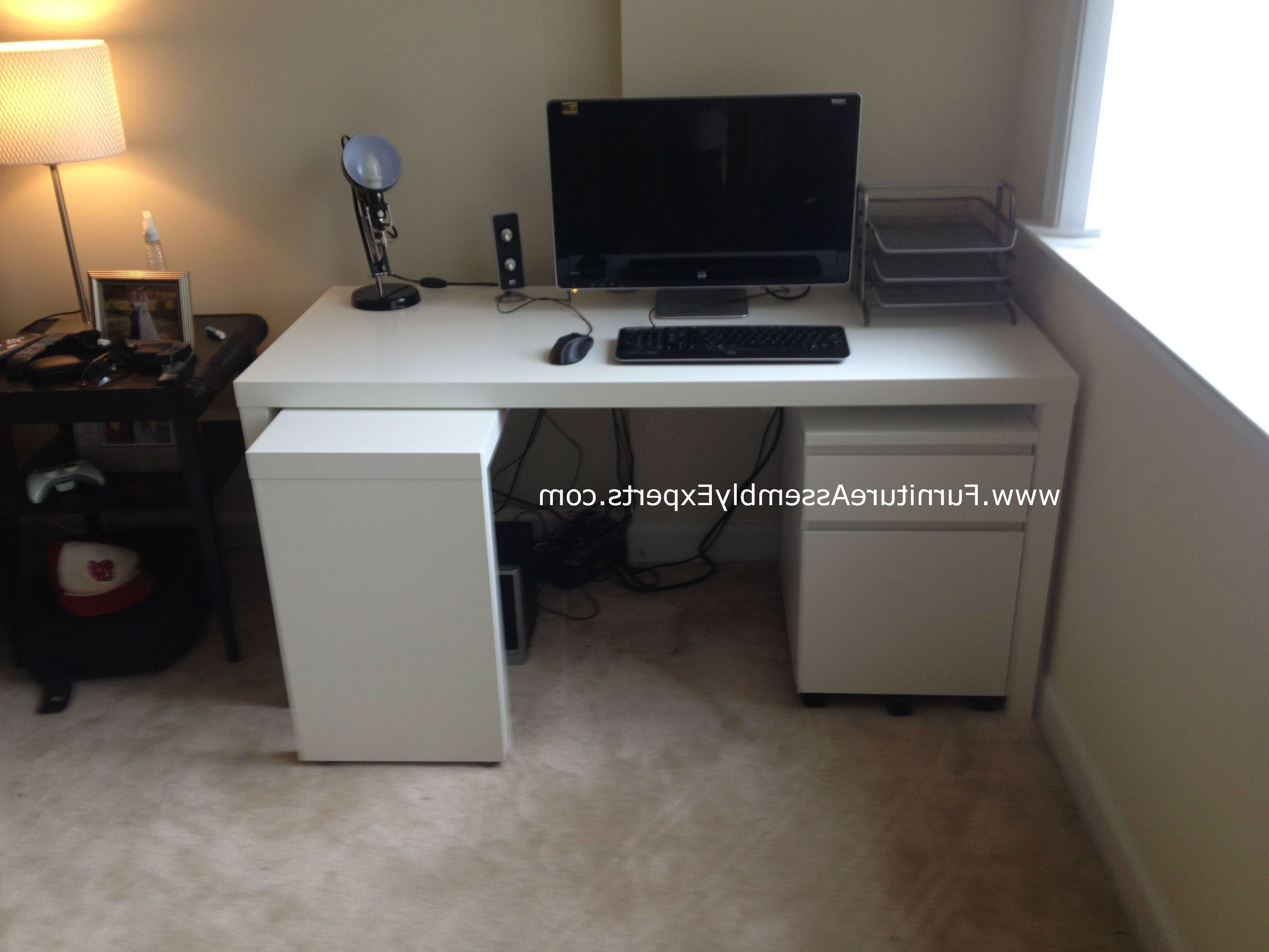 Fashionable Assembled Computer Desks Pertaining To Ikea Malm Desk With Drawer Unit Assembled At Quincy Plaza (View 12 of 20)