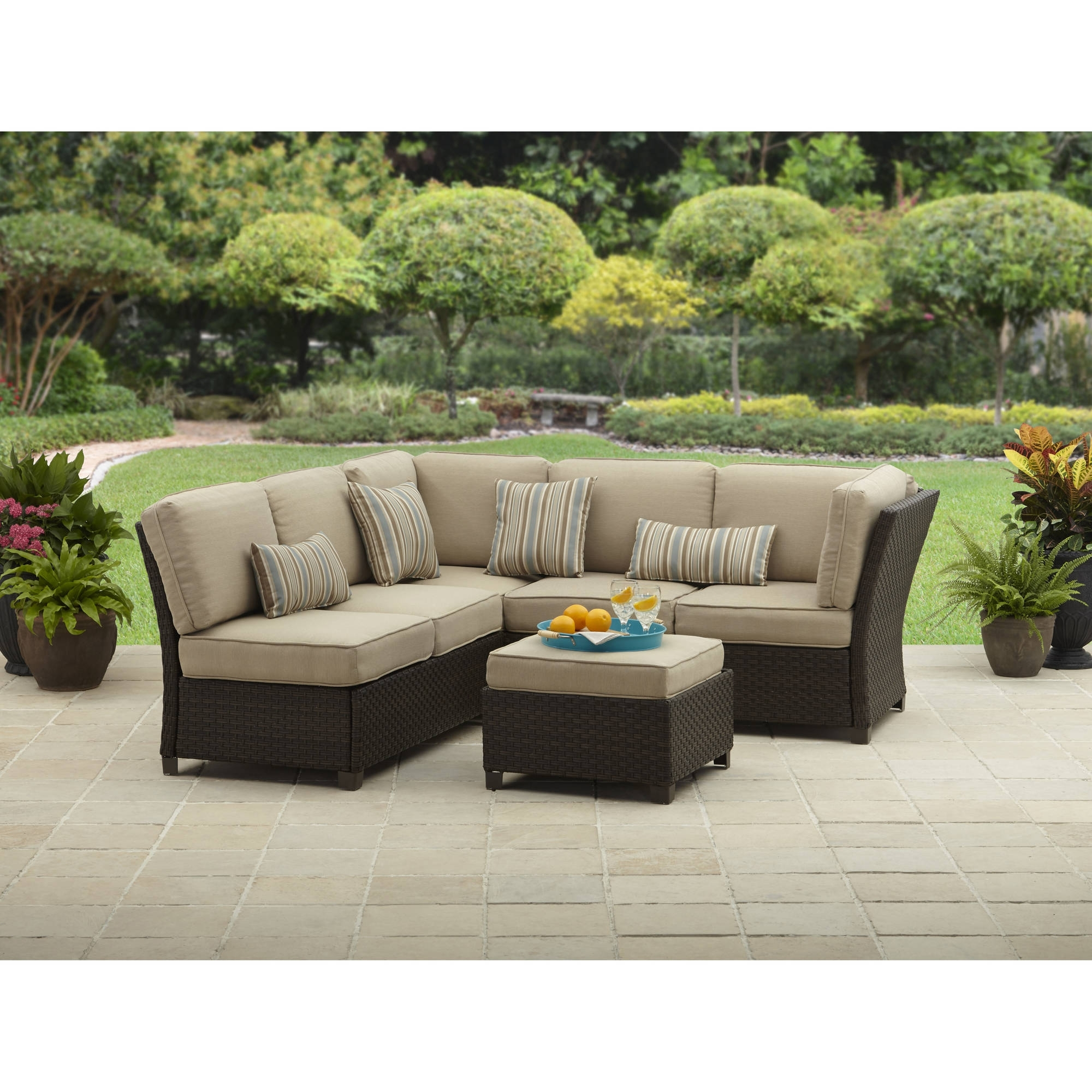 Fashionable Better Homes And Gardens Cadence Wicker Outdoor Sectional Sofa Set With Regard To Sams Club Sectional Sofas (View 15 of 20)