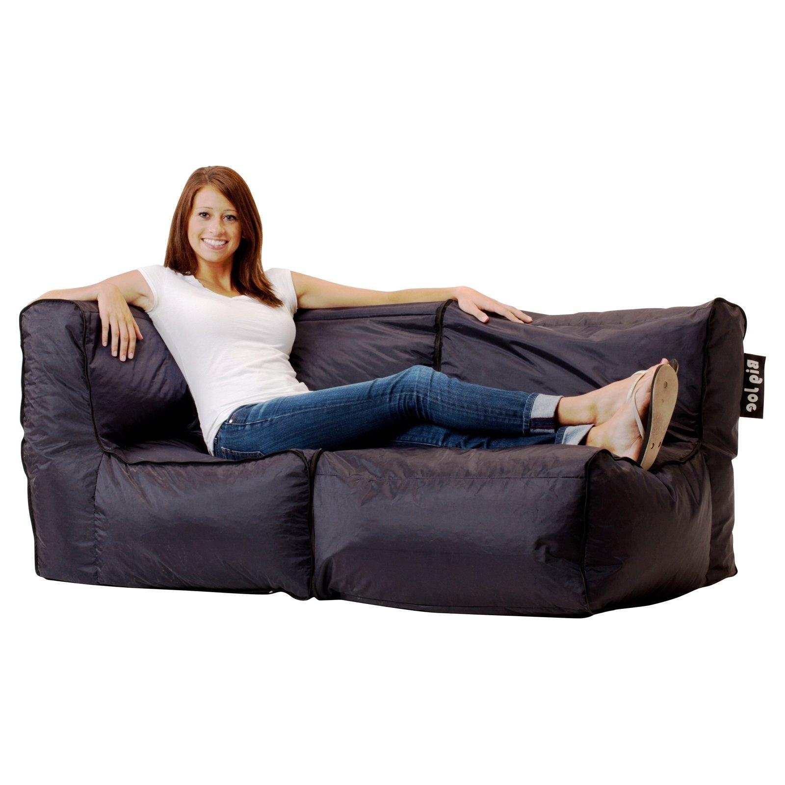 Fashionable Big Joe Zip Modular Sofa – Stretch Limo Black – As The Big Joe Zip Within Bean Bag Sofas And Chairs (View 16 of 20)