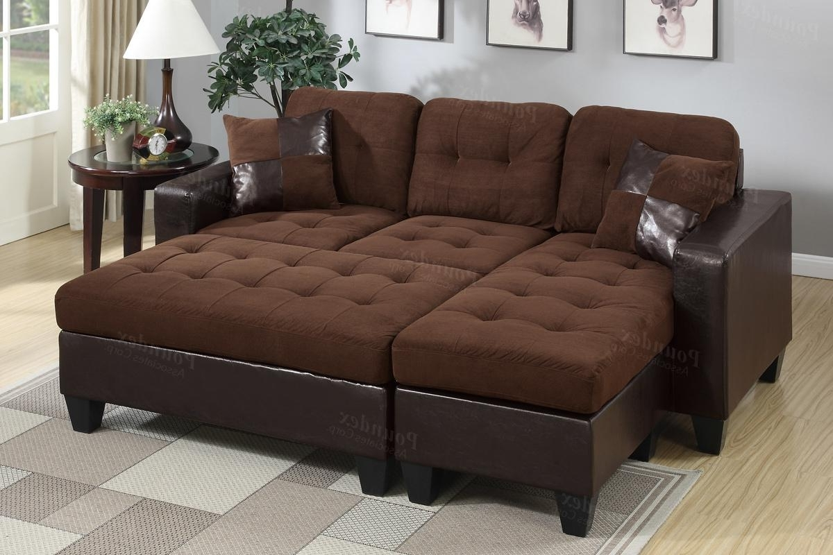 Fashionable Brown Leather Sectional Sofa And Ottoman – Steal A Sofa Furniture With Regard To Sectional Sofas With Chaise And Ottoman (View 4 of 20)