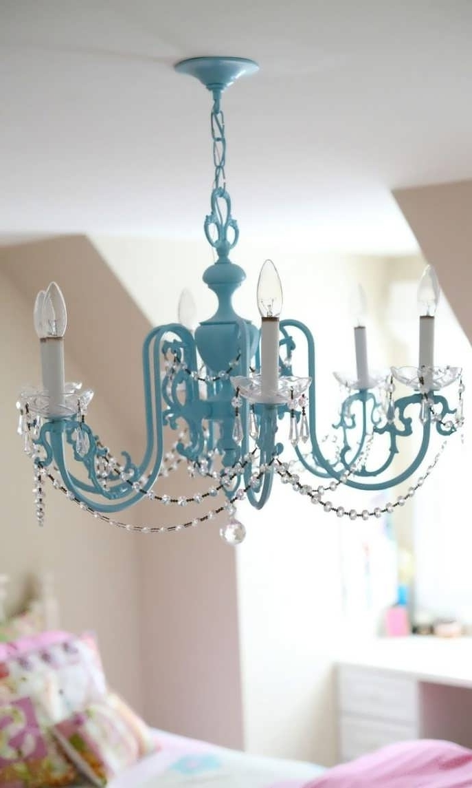 Fashionable Chandelier : Cute Girl Rooms Little Girl Chandelier Bedroom Kids In Turquoise Bedroom Chandeliers (View 6 of 20)