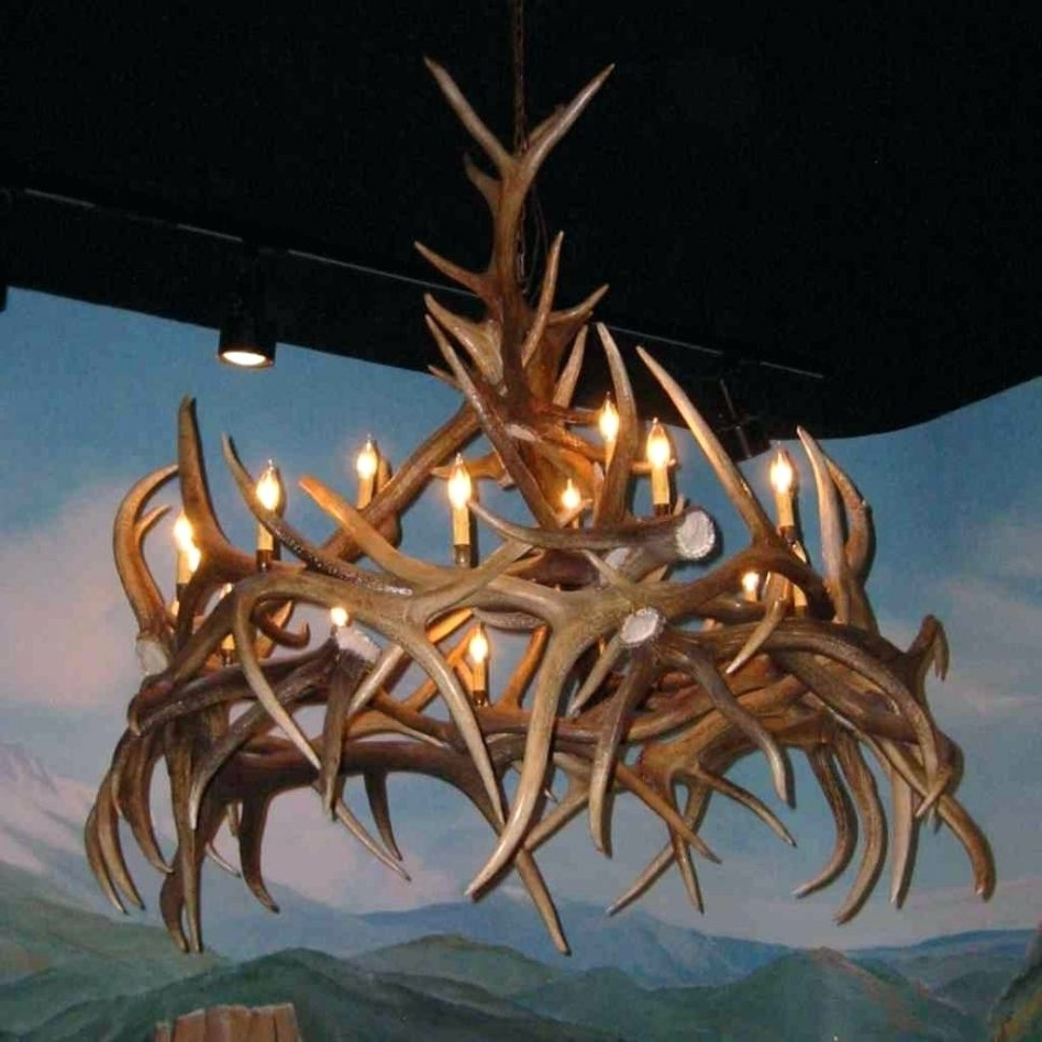 Fashionable Chandeliers Design : Fabulous Unique Antler Chandelier Wonderful With Turquoise Antler Chandeliers (View 8 of 20)