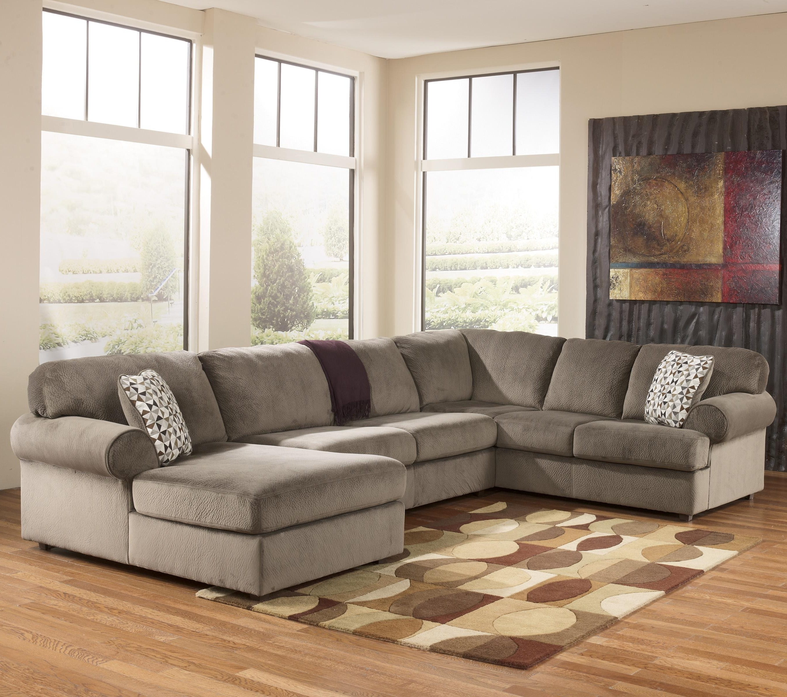 Fashionable Clarksville Tn Sectional Sofas Within Signature Designashley Jessa Place – Dune Casual Sectional (View 6 of 20)