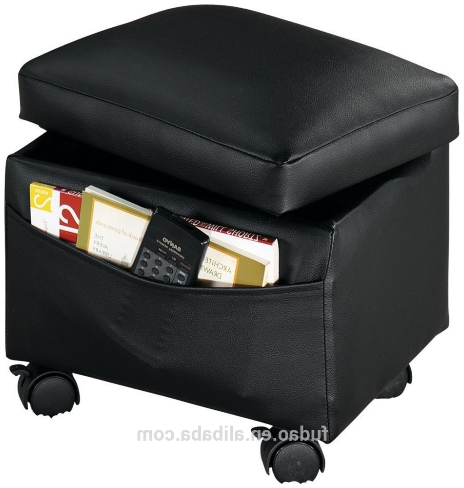 Fashionable Cube Stool Upholstered Footrest Storage Leather Ottoman With With Ottomans With Wheels (View 4 of 20)