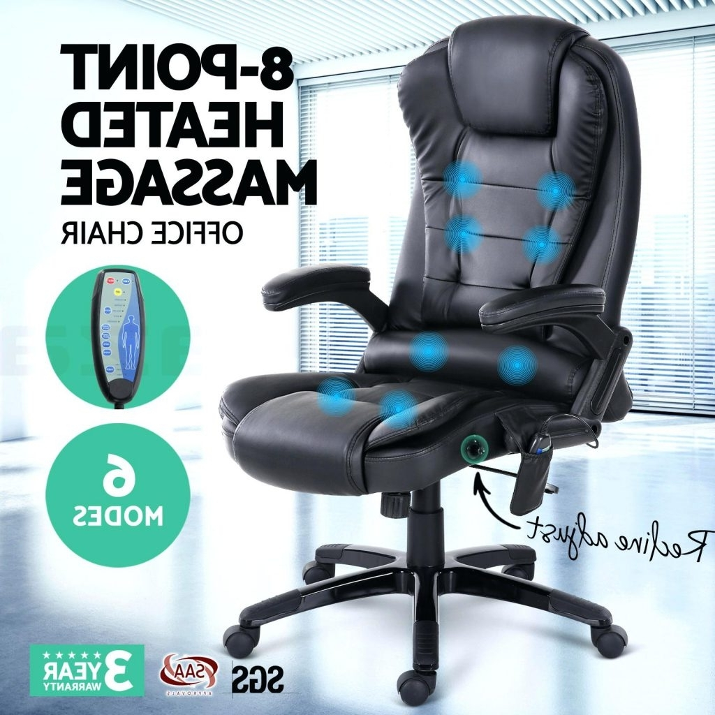 Fashionable Desk Chair ~ Desk Chair Massager 8 Point Massage Office Racing With Executive Office Chairs With Massage/heat (View 3 of 20)
