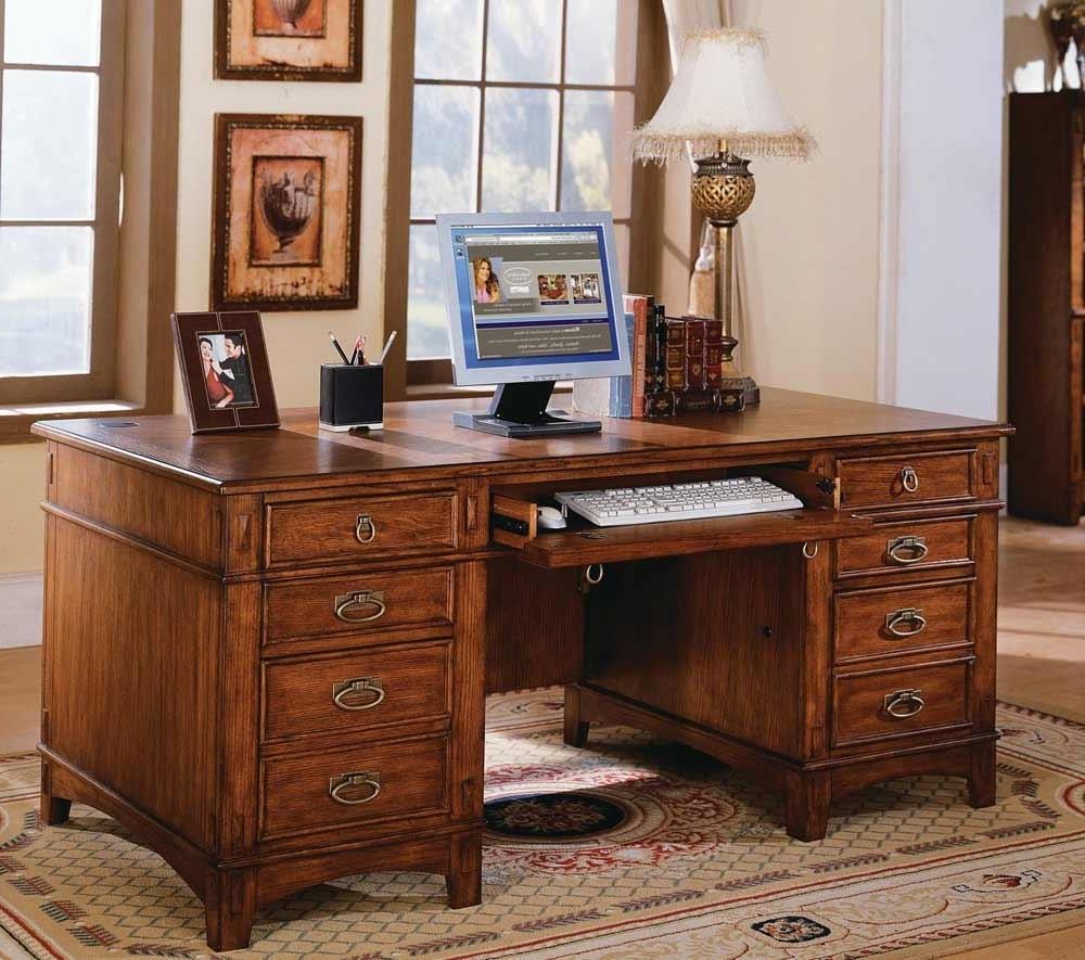 Fashionable Executive Computer Desks Regarding Hide An Executive Computer Desk (View 5 of 20)
