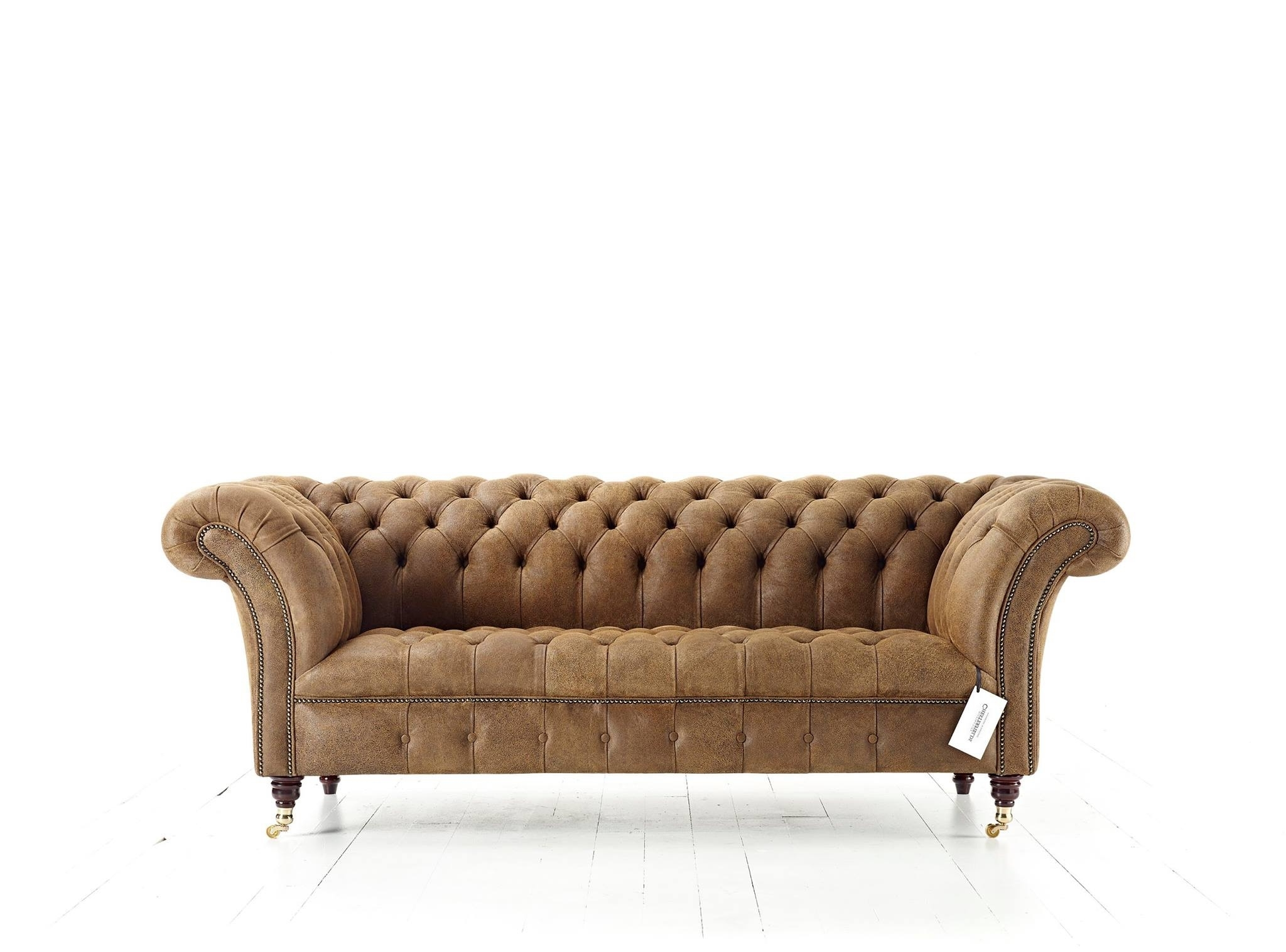 Fashionable Flair Wide Arm Chesterfield Blenheim Sofa With Tufted Button Seat Within Wide Sofa Chairs (View 5 of 20)