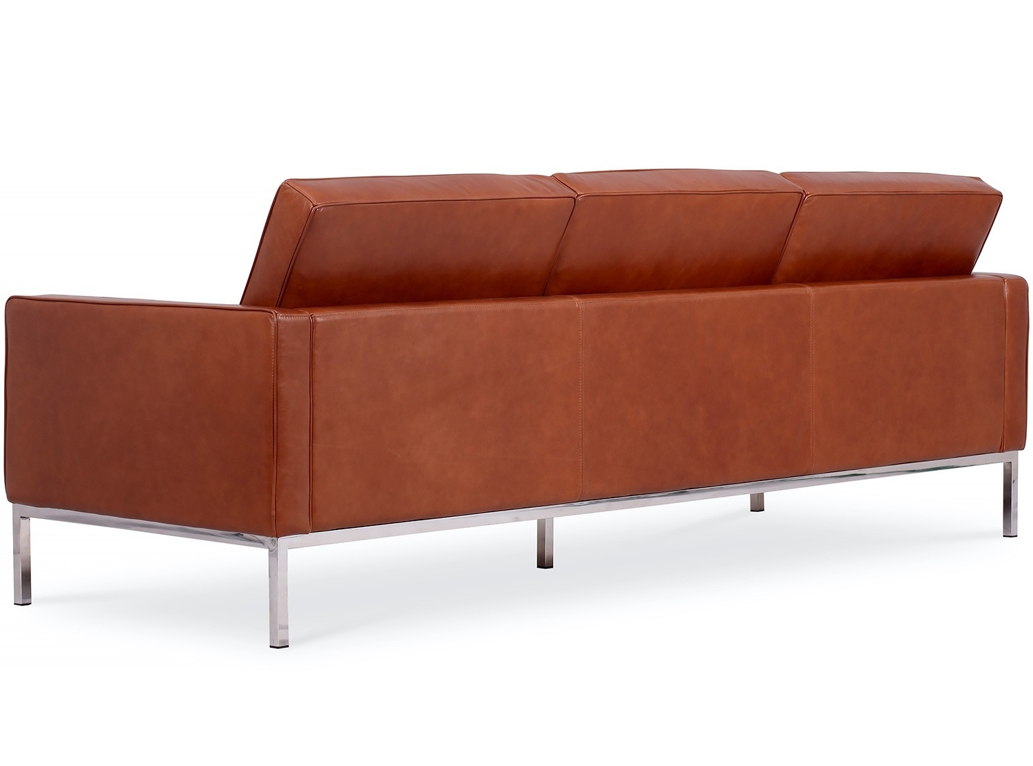 Fashionable Florence Knoll 3 Seater Sofas Within Florence Knoll Sofa 3 Seater Leather (Platinum Replica) (View 4 of 20)