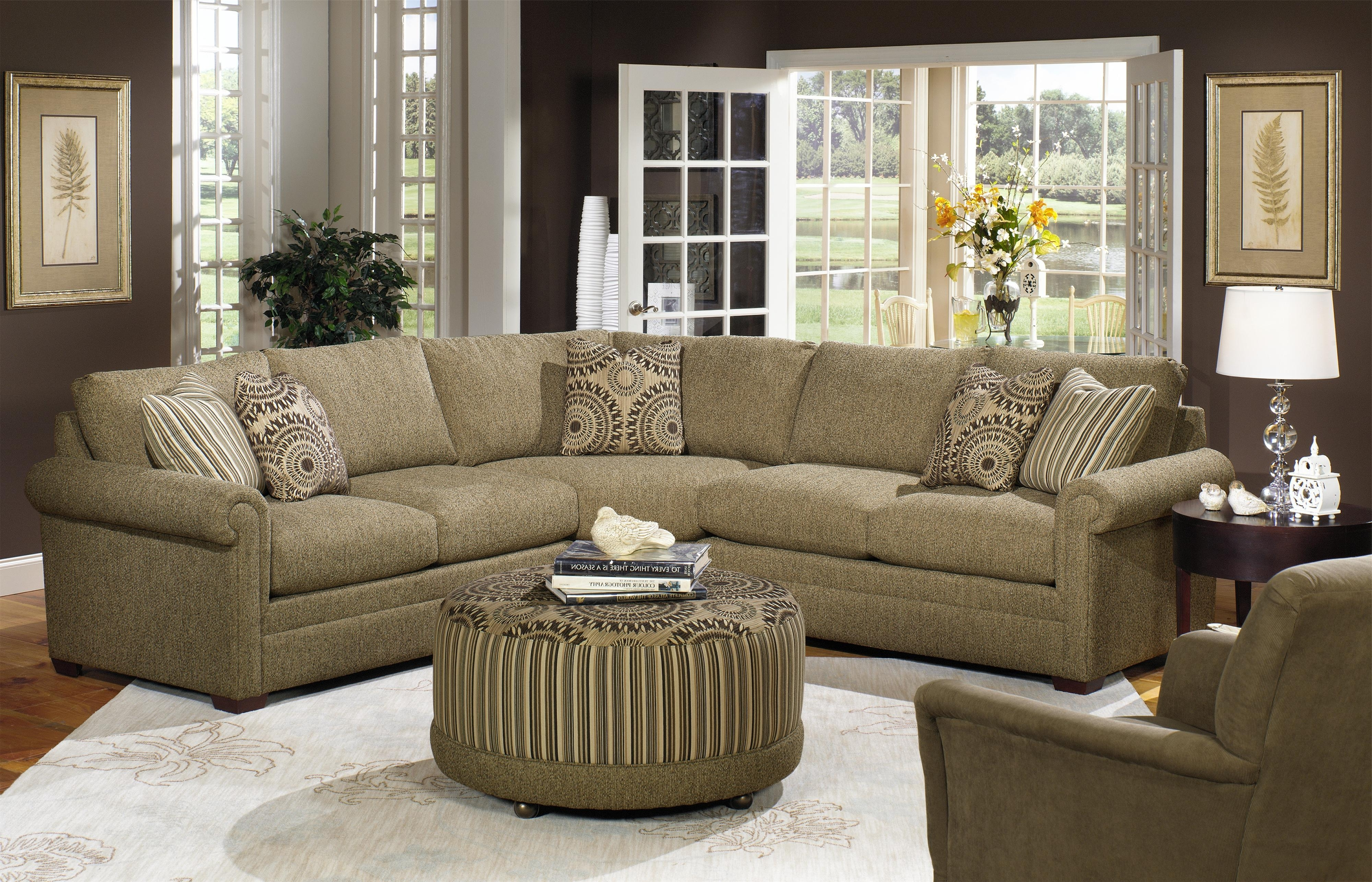 Fashionable Furniture Row Sectional Sofas For Craftmaster F9 Custom Collection Customizable Four Piece Sectional (View 15 of 20)