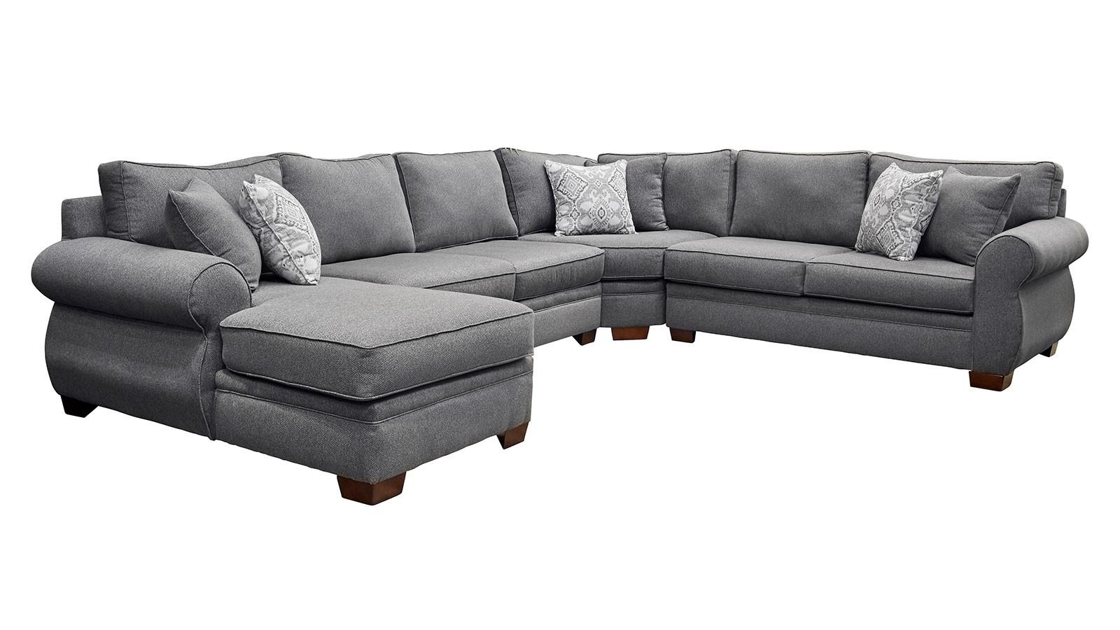 Fashionable Gallery Furniture Sectional Sofas Regarding Smoke Raf Sectional (View 2 of 20)